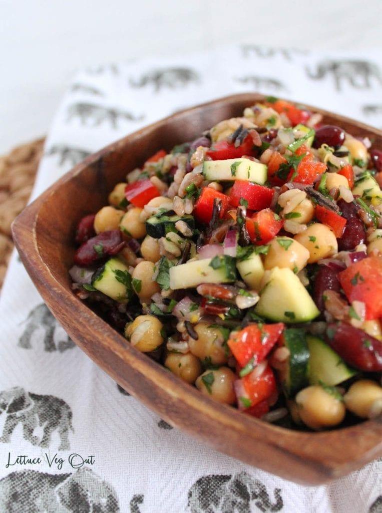 Three Bean Wild Rice Salad Recipe
