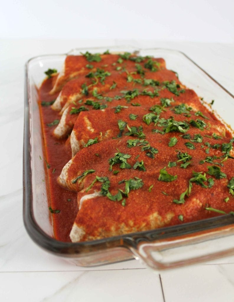 Black bean and sweet potato enchilada recipe (vegan)