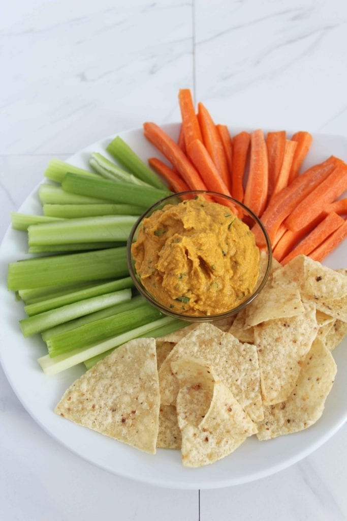 Thai Pumpkin Hummus Recipe Vegan Protein Snack