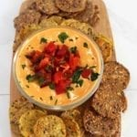 Roasted red pepper and white bean hummus recipe