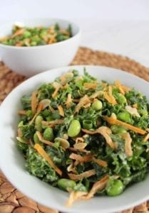Homemade Vegan Kale Salad Recipe with Orange Miso Dressing