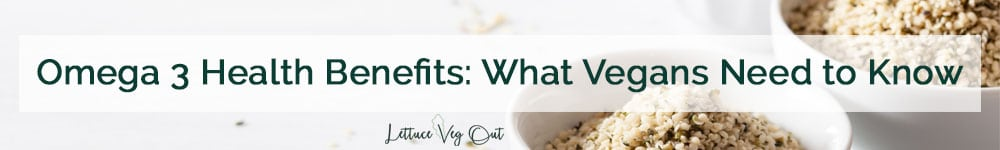 Omega 3 health benefits what vegans need to know (title image with hemp seed background)
