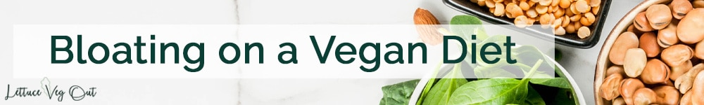 Bloating on a vegan diet title image