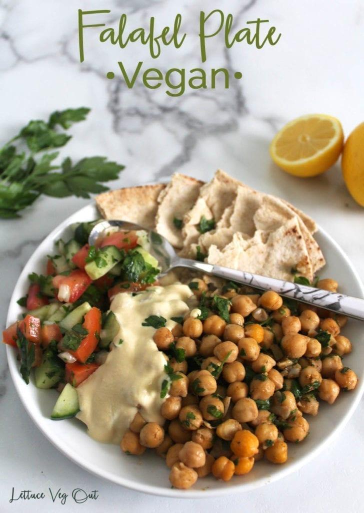 Falafel plate recipe (vegan and gluten free)