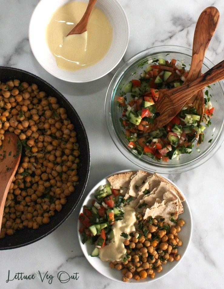 Vegan falafel platter recipe for dinner